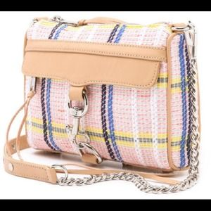 HOST PICK Rebecca Minkoff plaid stripe mini Mac