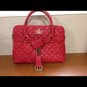 Marc Jacobs Red Quilted Bruna Satchel
