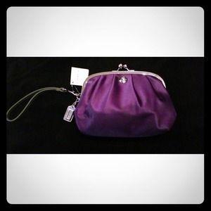 Coach purple wristlet! 💜