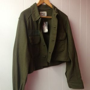 Forest green wool jacket