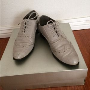 Gray patent leather men's  inspired Oxfords