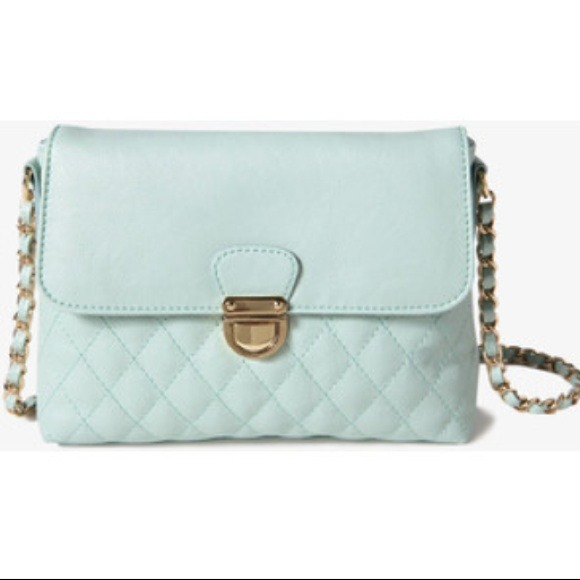 40% off Forever 21 Handbags - Mint green quilted crossbody purse ...