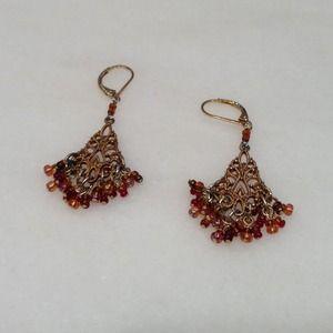 Gorgeous multicolor chandelier earrings.