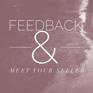 Feedback + meet your seller