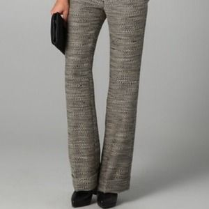 Phillip Lim Cuffed Flat Front Tweed Trouser 8 NWT