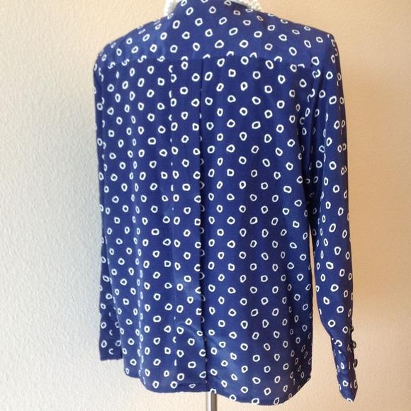 Oscar de la Renta Tops - BUNDLED polka dot blouse, Oscar de la Renta LARGE