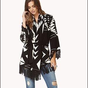 Forever 21 Sweaters - RESERVED NWOT Fringe Southwest Boho Sweater