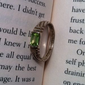 Silver Ring with Green Stone