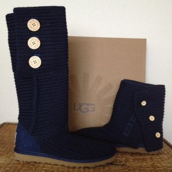Dark Blue UGGs 3 Button Cardy Boots