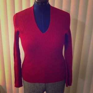 Beautiful red v neck sweater