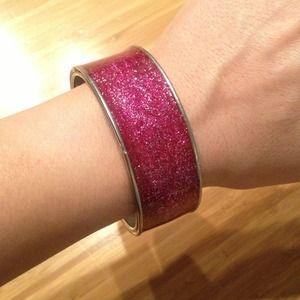 Jewelry - Pink glitter sparkle cuff bracelet