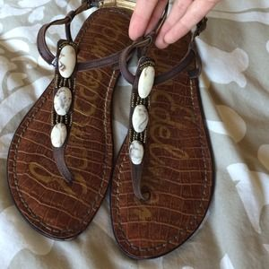 Sam Edelman brown sandals.