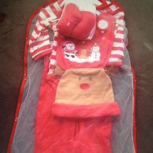 Other - New Baby's first Christmas outfit set