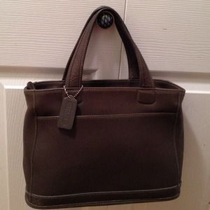 Coach Leather small tote