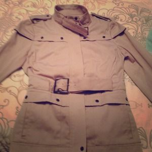 kenar Jackets & Blazers - Kenar short trench coat in tan
