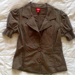 NWOT Cotton short puffy sleeves blazer
