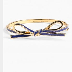 kate spade Jewelry - ks navy skinny mini bow bangle bracelet