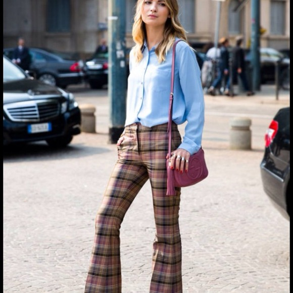 Juicy Couture - Juicy Couture retro plaid flare trousers from ...