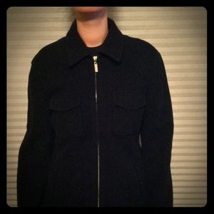 J. Crew black wool coat