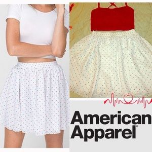 American Apparel Dresses & Skirts - 24hr FLASH SALE 🍒 NWOT AA Polka Dot Chiffon Skirt