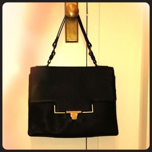 Lanvin Black Large Shoulder Bag
