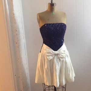 Vintage Sequined Prom Dress