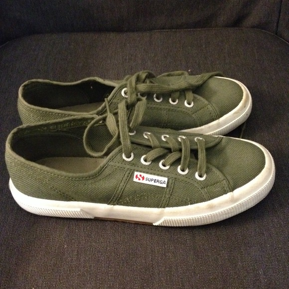 Superga Shoes | Price Reduced Olive