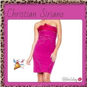 Christian Siriano Dresses & Skirts - AMAZING DEAL🌺STRAPLESS PONTE KNIT DRESS Sz 12