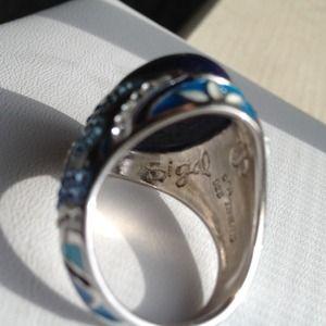 Sigal Ring Sterling Silver Sodolite Crystal