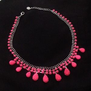 Neon Pink Statement Necklace