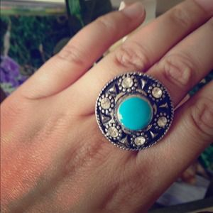 Silver and Turquoise Vintage Ring