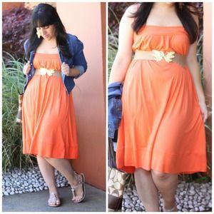Diane von Furstenberg Dresses & Skirts - Diane von Furstenberg Orange Angea Dress