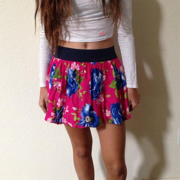 Hollister skirts pink floral skirt medium poshmark pink floral hollister skirt medium mightylinksfo