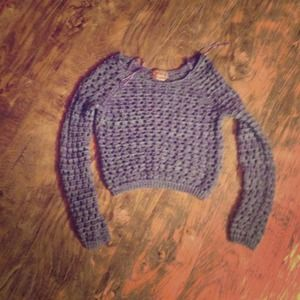 Crop top knitted sweater