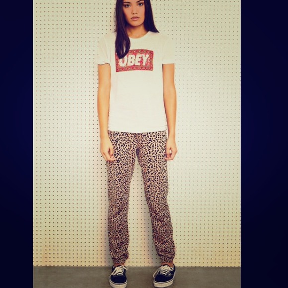 f527a581725 Urban Outfitters Obey Slouchy Leopard Print Pants.  M 5281902d63511405d8001d8d