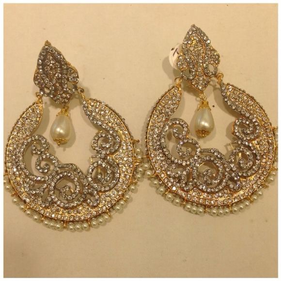 traditional jewelery set jewelry s south plated p indian jhumka gold earrings