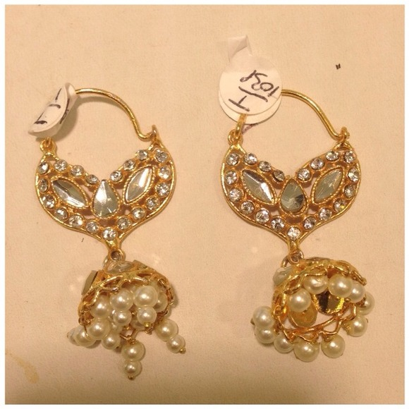 1 Gram Gold Earrings Indian Jewelry OS from Gurpreet s closet on