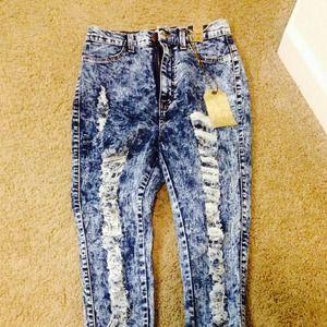 e6b96f40d4fcf Pants | High Waisted Acid Wash Jeans Size 7 | Poshmark