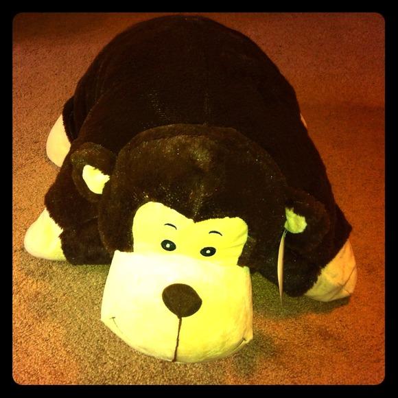 Accessories Jumbo Monkey Stuffed Animal Pillow Poshmark