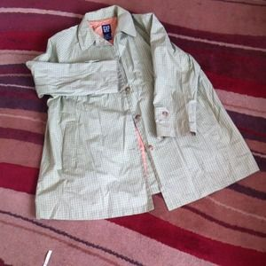 Checkered GAP Trench Coat