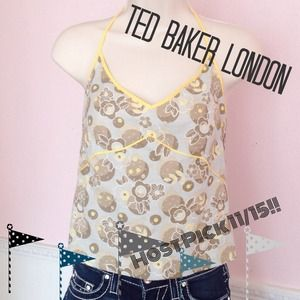 🛍🛍🛍3/$20 TED BAKER of London☀️Floral Tank NWT☀️