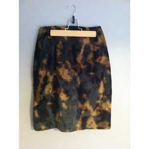 Vintage faux fur skirt.