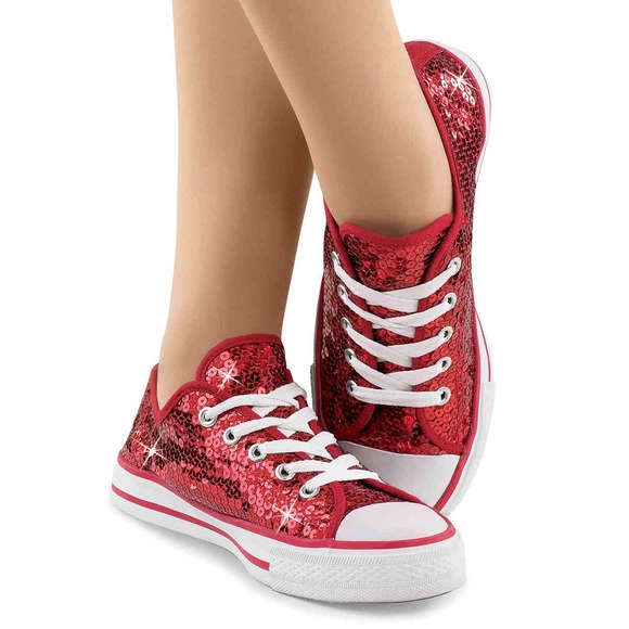 Converse Shoes - 💖Red Sparkly Converse💖 4fb1dcb21