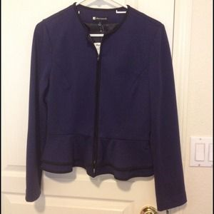 Jackets & Blazers - NWT Peplum Zip Up Jacket