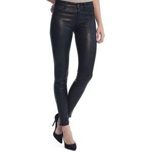 J Brand Black Leather Pants Legging Jean rag bone