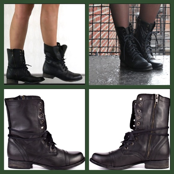 bea0c8186d5 💢ON HOLD💢 Steve Madden Troopa boots in black