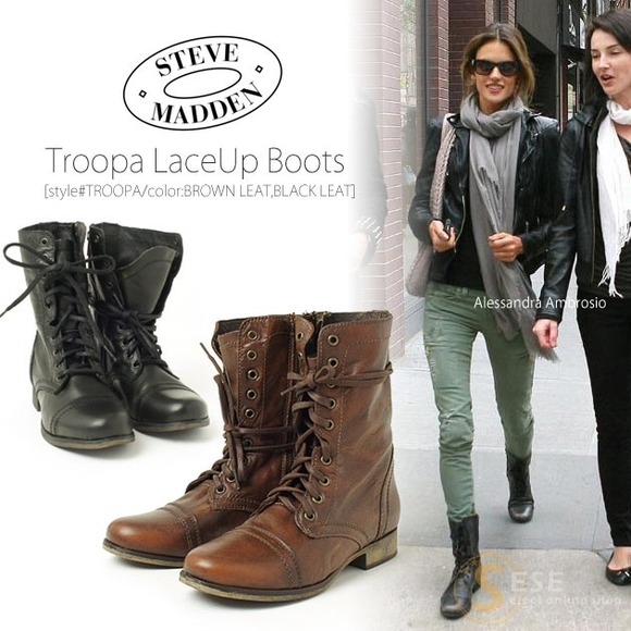 37% off Steve Madden Boots - 💢ON HOLD💢 Steve Madden Troopa boots ...