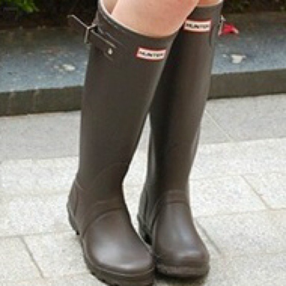 Hunter Boots - Hunter tall rain boots - chocolate brown Size 7/8 ...