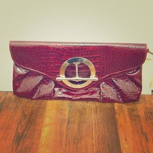 Gorgeous red snakeskin clutch