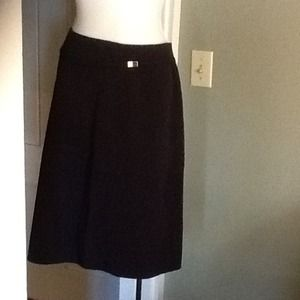 Black A-Line skirt with built in belt